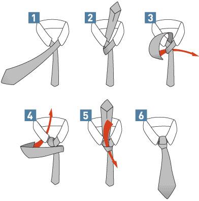 способ как правильно завязать галстук в картинках Полувиндзор