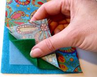 Открытки своими руками слоя ткани