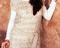 Платье-туника крючком фото