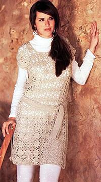 Платье-туника схема вязания крючком с фото
