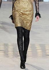 Черные модные колготки 2010
