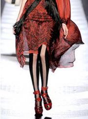 Контрастные модные колготки 2010