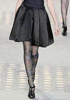 С кружевом модные колготки 2010