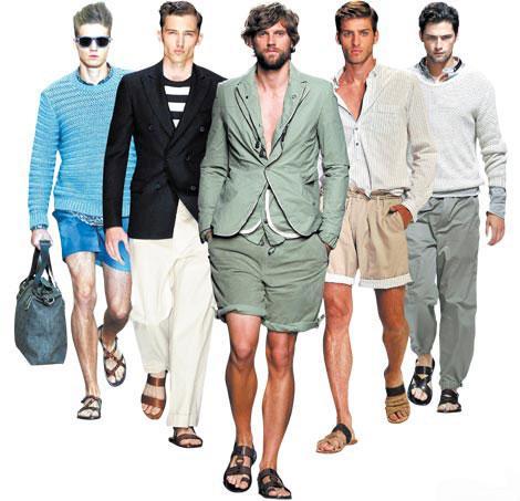 Мужские сандалии-гладиаторы слева направо: эскизы Louis Vuitton, Salvatore Ferragamo, Bottega Veneta, Dolce & Gabbana и Ermenegildo Zegna