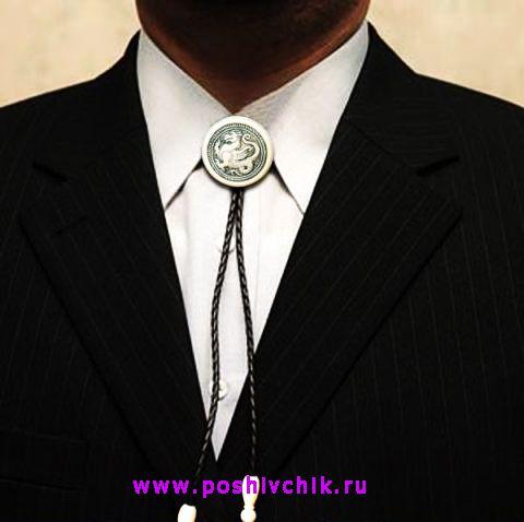 Ковбойский галстук с пиджаком