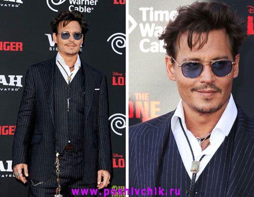 Американский актер и режиссер Джонни Депп Johnny Depp в галстуке фото