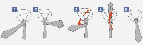 способ как правильно завязать галстук в картинках Простой узел