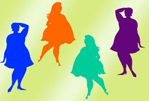 Выбор платья для полных девушек