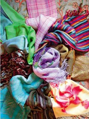 Как правильно носить женские платки и шарфы