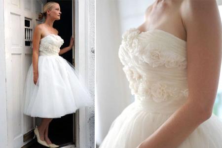 Превосходное короткое свадебное платье фото