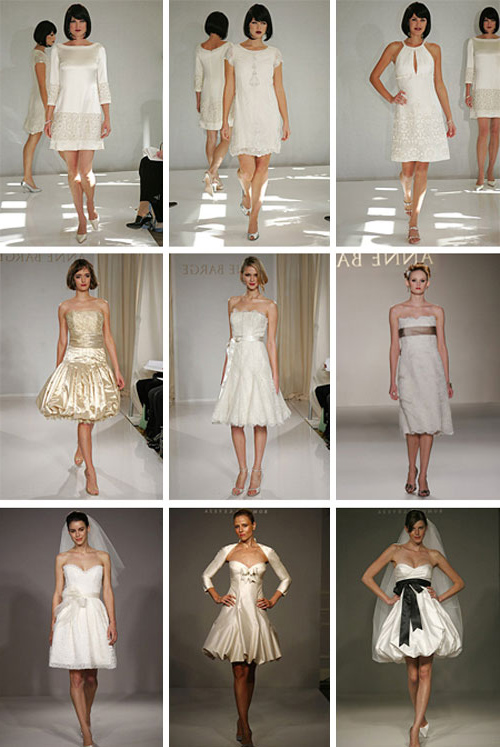 Шикарные короткие свадебные платья фото