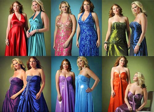 Вечерние наряды для полных женщин с открытым декольте фото