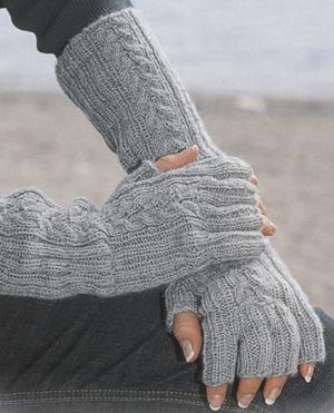 Вязание перчаток спицами без пальцев