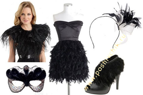 Идея 3 для новогодних костюмов для взрослых Гламурный черный лебедь фото