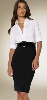 Комбинирование одежды белого цвета с черным фото