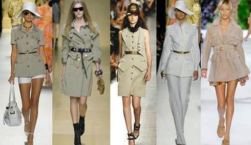 Модели женских пиджаков актуальны в этом сезоне в стиле сафари фото