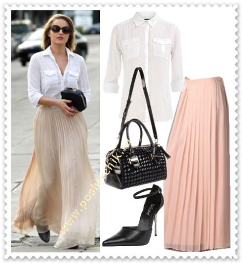 Что одеть с длинной юбкой на работу фото с белой рубашкой