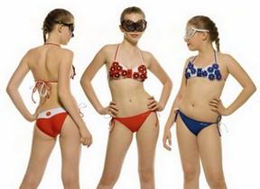 Раздельные детские купальники для девочек-подростков Papaver фото