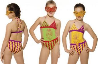 Слитные детские купальники для девочек - трикини Corona фото