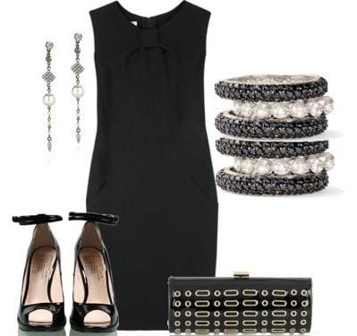Маленькое черное платье фото с аксессуарами