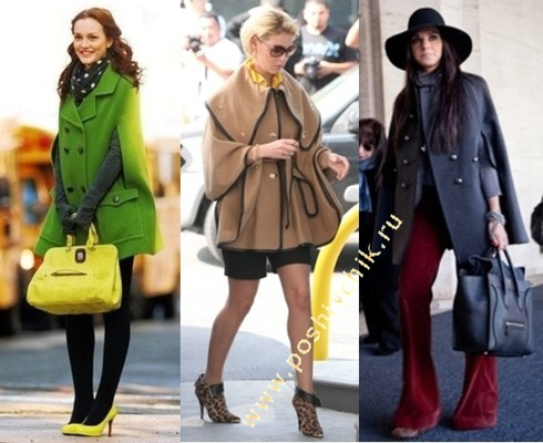 3 идеи с чем носить кейп пальто без рукавов фото