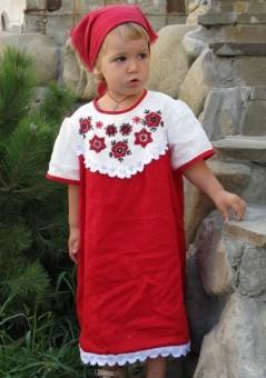 Русская народная вышивка на детском платье фото