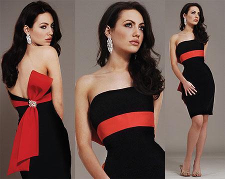Короткое черное платье от Jovani фото