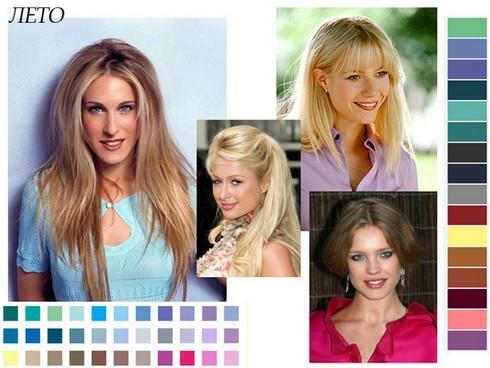 Цветотип внешности лето: одежда, палитра, знаменитости, фото
