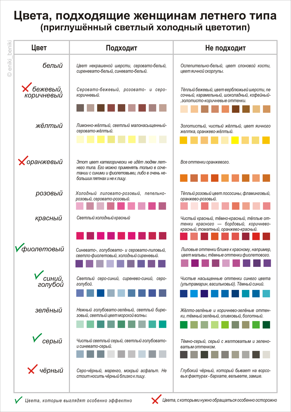Цветотип внешности лето цвета палитра фото