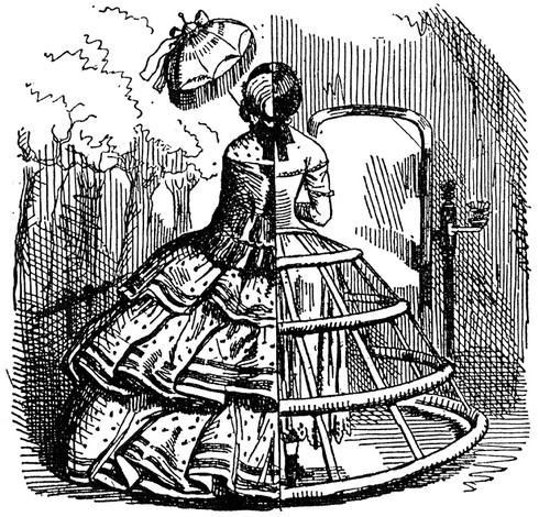 История создания и развития женской юбки фото с панцирным корсетом