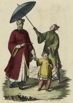 История зонта носит раб над головой владыки картинка