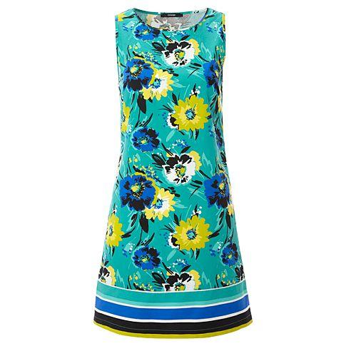 Простое платье с цветочным принтом фото