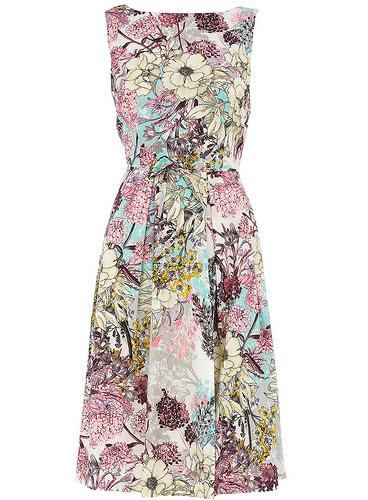 Элегантное платье с цветочным принтом фото