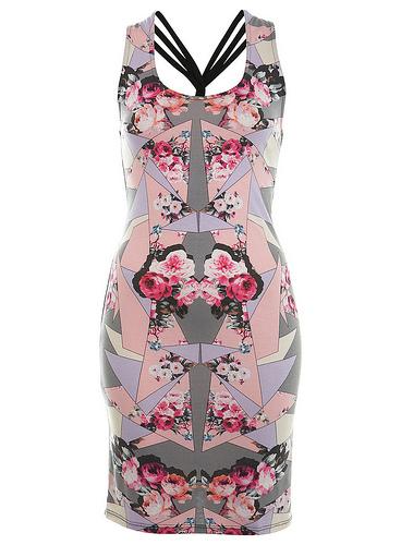 Индивидуальное платье с цветочным принтом фото