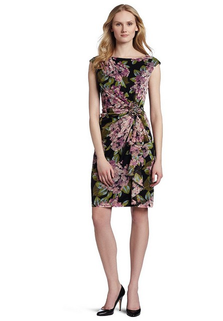 Платье с цветочным принтом для работы фото