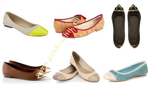 Модные тенденции летней обуви в 2012 году балетки фото