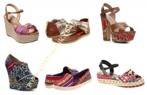Модные тенденции летней обуви в 2012 году абстрактные принты фото