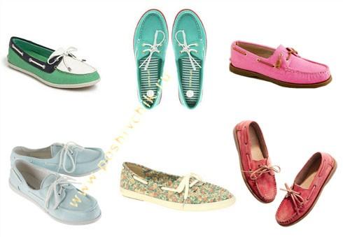 Модные тенденции летней обуви в 2012 году мокасины фото