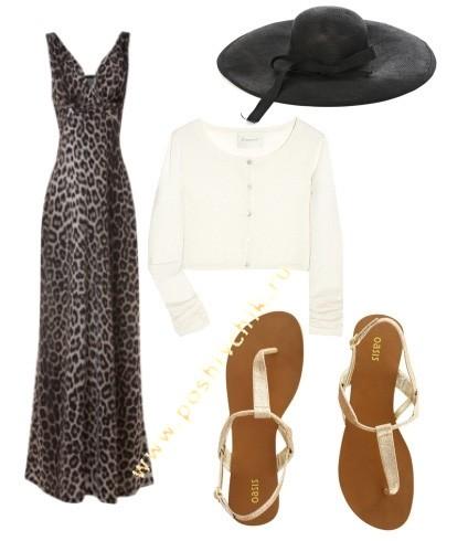 С чем носить длинное леопардовое платье в пол летний стиль фото