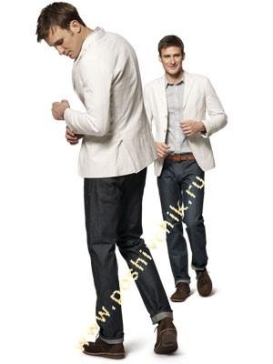 С чем можно носить джинсы мужчинам с блейзером фото
