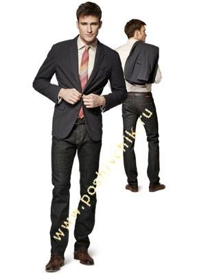 С чем можно носить джинсы мужчинам с пиджаком фото