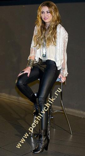 С чем носить женские кожаные брюки прохладный и свободный стиль фото