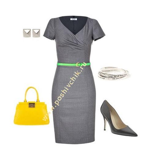 Яркие цвета в контрасте с консерватизмом в одежде для офиса фото