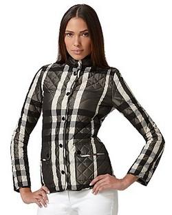Черно-белый пиджак в клетку Burberry фото