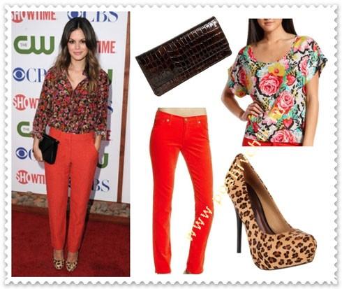 С чем носить леопардовые туфли с ярким и цветочным трендом фото