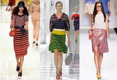Модные полоски в женском гардеробе фото