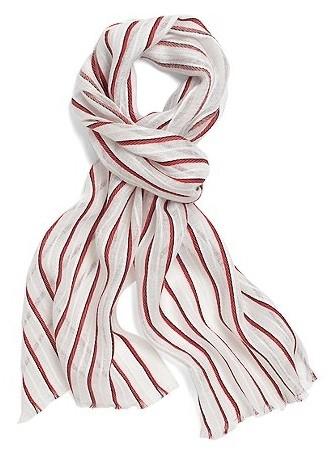 Многофункциональный полосатый шарф фото