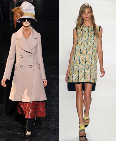 Модные тенденции на осень 2012 года: фото Louis Vuitton и J. Mendel