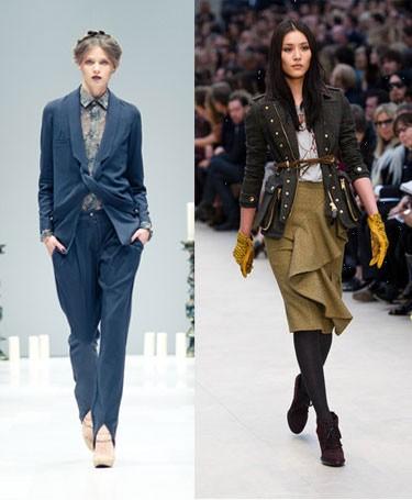 Модные тенденции на осень 2012 года: фото Chloe comme Parris и Burberry