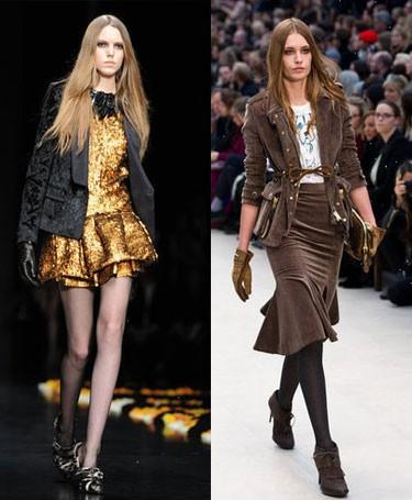 Модные тенденции на осень 2012 года: фото Roberto Cavalli и Burberry